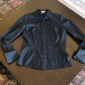Thomas Pink black shirt with french cuffs size 10